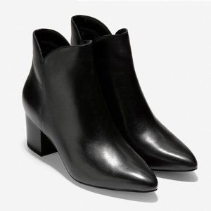 Cole Haan | Elyse Bootie Black Leather Ankle Boot